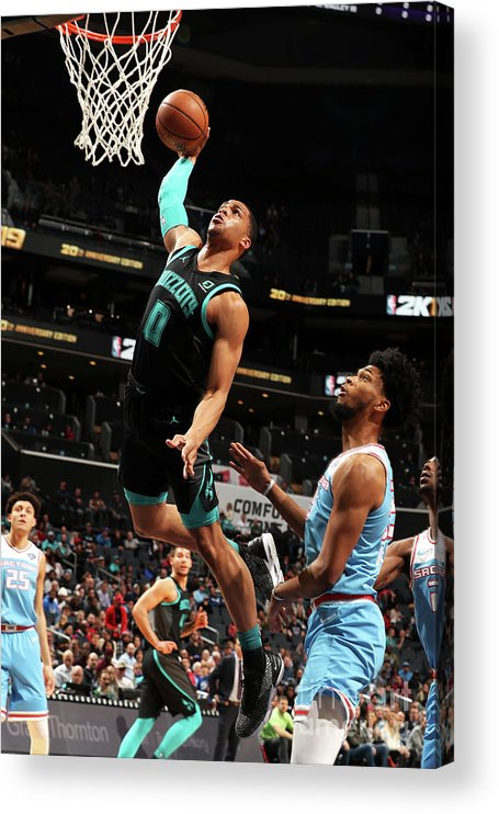 Nba Pro Basketball Acrylic Print featuring the photograph Sacramento Kings V Charlotte Hornets by Kent Smith