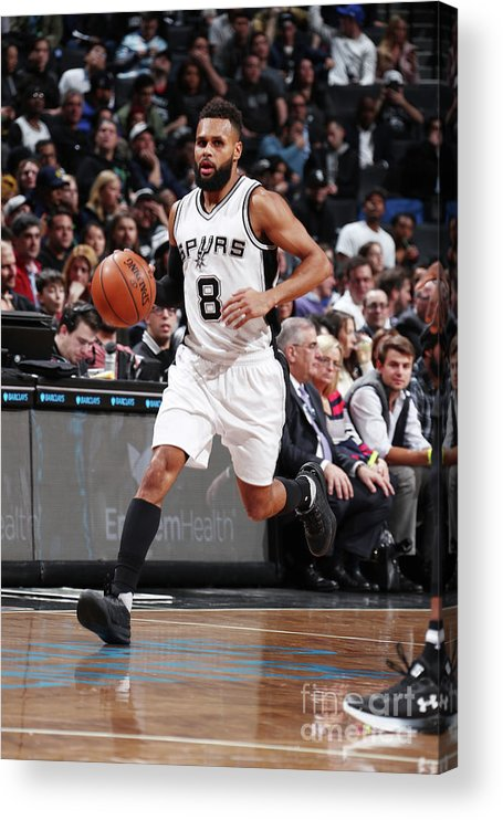 Nba Pro Basketball Acrylic Print featuring the photograph San Antonio Spurs V Brooklyn Nets by Nathaniel S. Butler