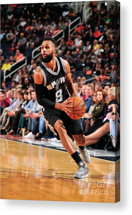 Nba Pro Basketball Acrylic Print featuring the photograph San Antonio Spurs V Phoenix Suns by Barry Gossage