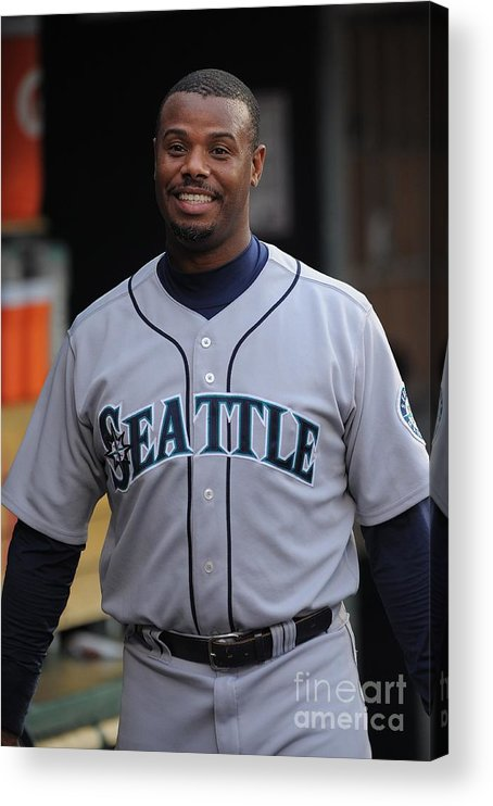 People Acrylic Print featuring the photograph Seattle Mariners V Detroit Tigers by Mark Cunningham