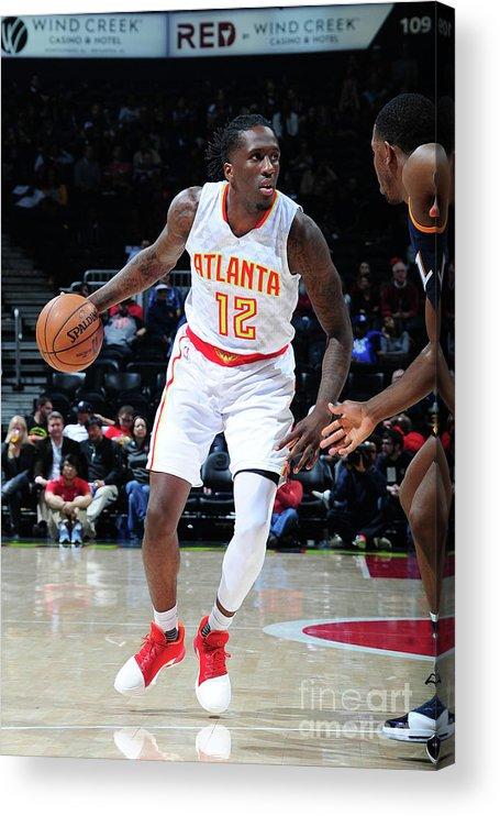 Atlanta Acrylic Print featuring the photograph Utah Jazz V Atlanta Hawks by Scott Cunningham