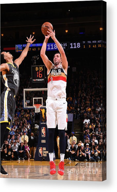 Nba Pro Basketball Acrylic Print featuring the photograph New Orleans Pelicans V Golden State by Noah Graham