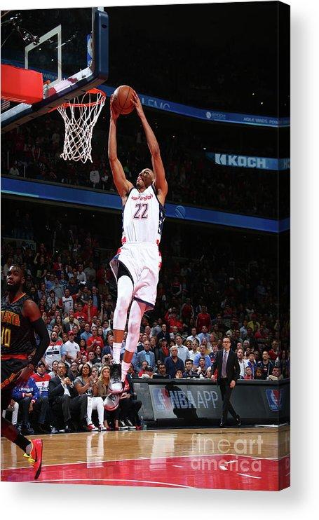 Playoffs Acrylic Print featuring the photograph Atlanta Hawks V Washington Wizards by Ned Dishman