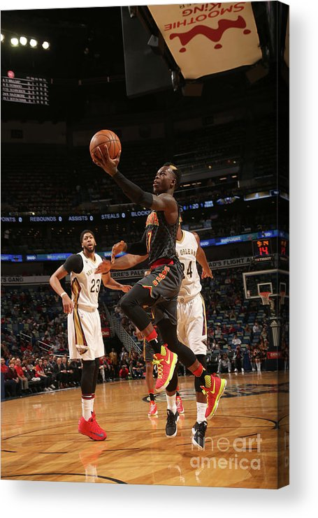 Smoothie King Center Acrylic Print featuring the photograph Atlanta Hawks V New Orleans Pelicans by Layne Murdoch