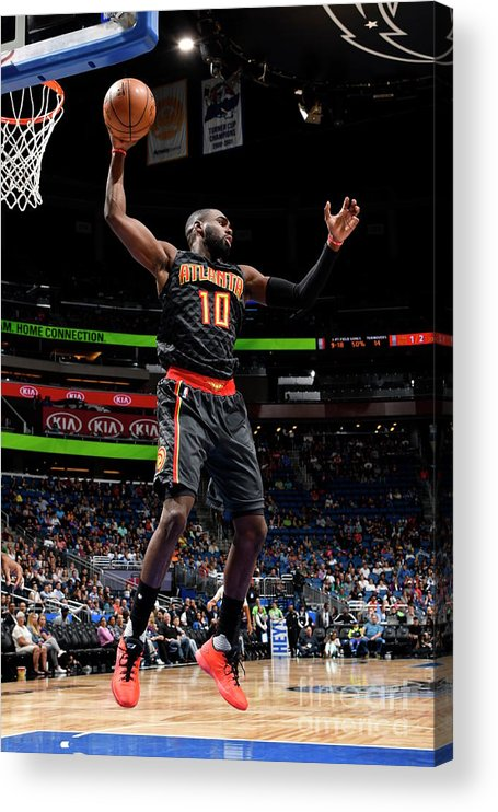 Tim Hardaway Jr. Acrylic Print featuring the photograph Atlanta Hawks V Orlando Magic by Fernando Medina
