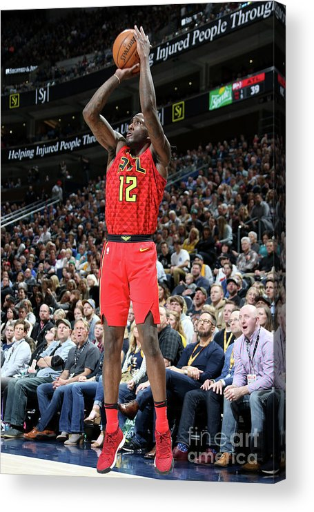 Nba Pro Basketball Acrylic Print featuring the photograph Atlanta Hawks V Utah Jazz by Melissa Majchrzak