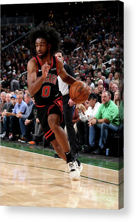 Coby White Acrylic Print featuring the photograph Chicago Bulls V Milwaukee Bucks by Gary Dineen