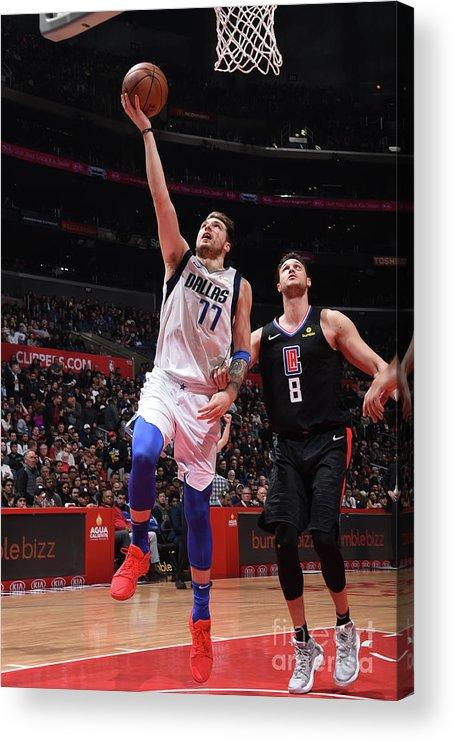 Nba Pro Basketball Acrylic Print featuring the photograph Dallas Mavericks V La Clippers by Adam Pantozzi