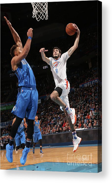 Nba Pro Basketball Acrylic Print featuring the photograph Dallas Mavericks V Oklahoma City Thunder by Layne Murdoch