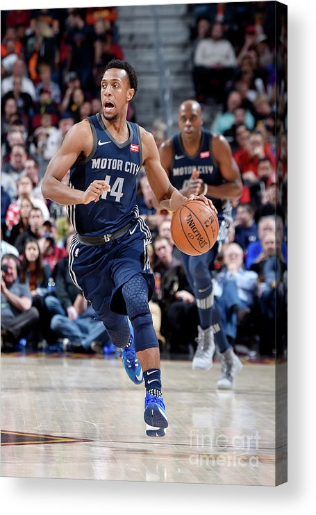 Nba Pro Basketball Acrylic Print featuring the photograph Detroit Pistons V Cleveland Cavaliers by David Liam Kyle