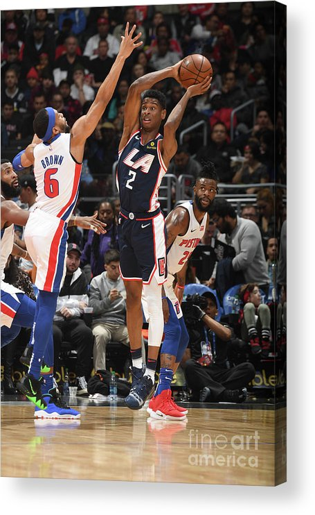 Nba Pro Basketball Acrylic Print featuring the photograph Detroit Pistons V La Clippers by Andrew D. Bernstein