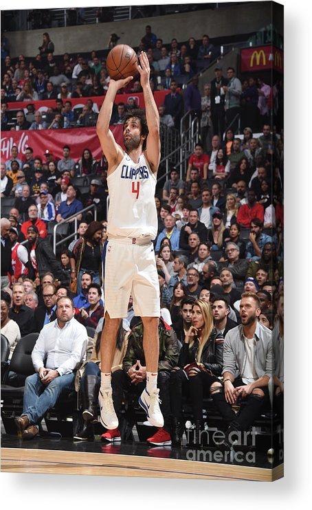 Nba Pro Basketball Acrylic Print featuring the photograph Houston Rockets V La Clippers by Andrew D. Bernstein