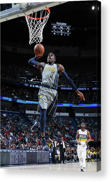 Smoothie King Center Acrylic Print featuring the photograph Indiana Pacers V New Orleans Pelicans by Layne Murdoch Jr.