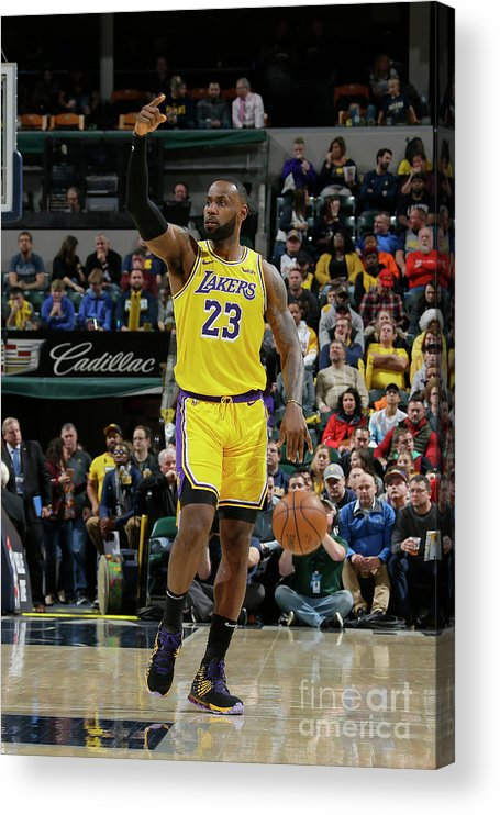 Nba Pro Basketball Acrylic Print featuring the photograph Lebron James by Ron Hoskins
