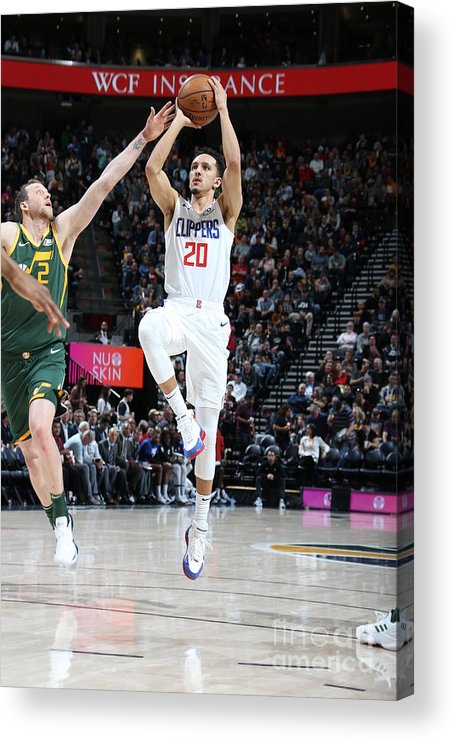 Nba Pro Basketball Acrylic Print featuring the photograph Los Angeles Clippers V Utah Jazz by Melissa Majchrzak