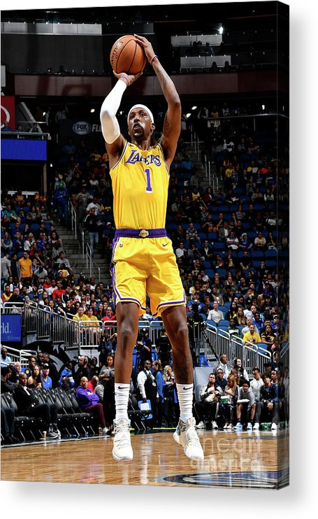 Nba Pro Basketball Acrylic Print featuring the photograph Los Angeles Lakers V Orlando Magic by Fernando Medina