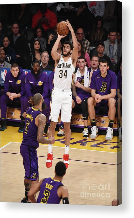 Nba Pro Basketball Acrylic Print featuring the photograph New Orleans Pelicans V Los Angeles by Adam Pantozzi