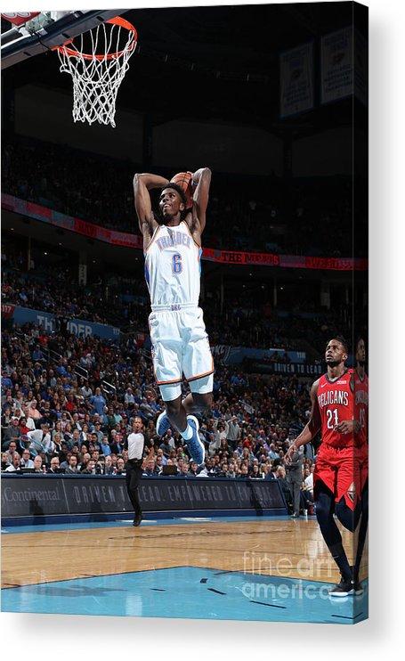 Nba Pro Basketball Acrylic Print featuring the photograph New Orleans Pelicans V Oklahoma City by Joe Murphy