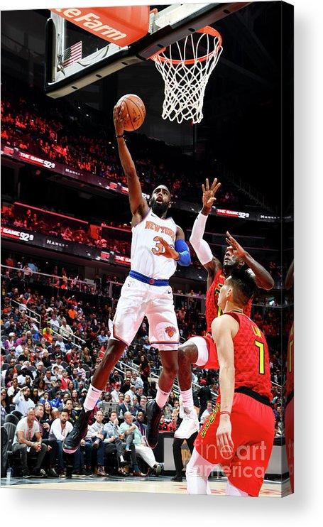 Atlanta Acrylic Print featuring the photograph New York Knicks V Atlanta Hawks by Scott Cunningham
