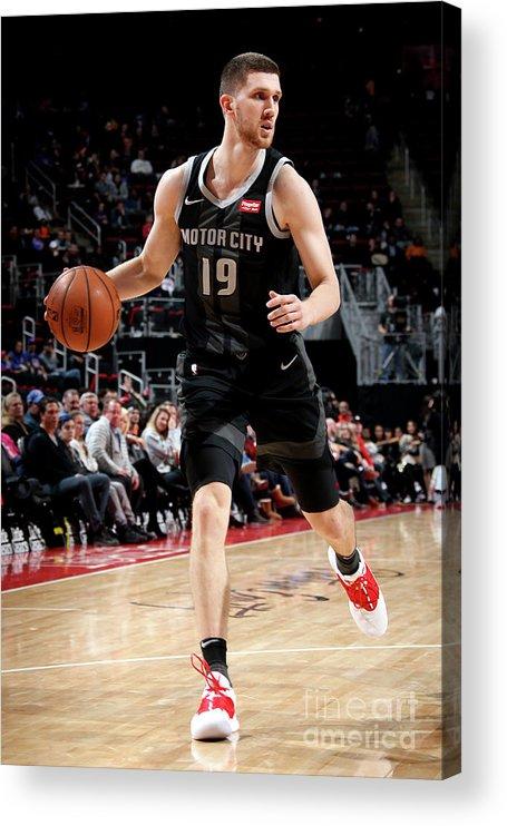 Nba Pro Basketball Acrylic Print featuring the photograph New York Knicks V Detroit Pistons by Brian Sevald