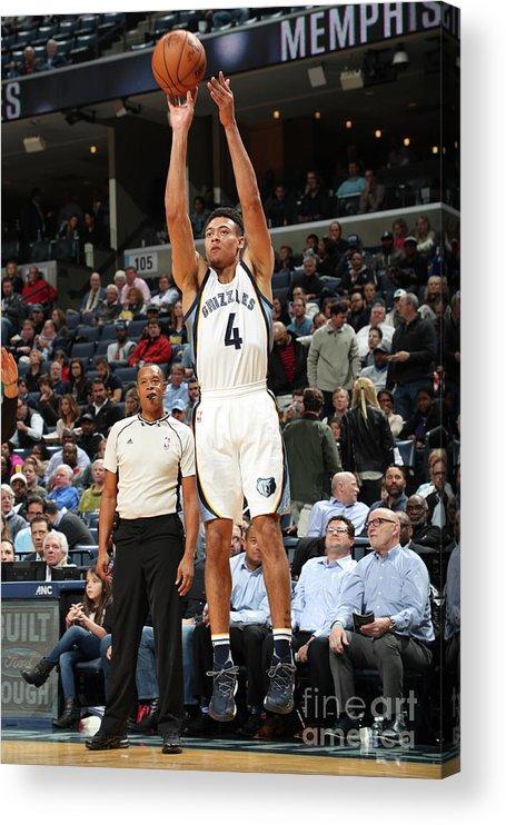 Nba Pro Basketball Acrylic Print featuring the photograph Orlando Magic V Memphis Grizzlies by Joe Murphy