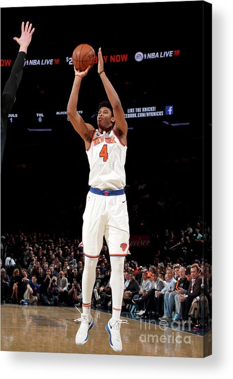 Nba Pro Basketball Acrylic Print featuring the photograph Orlando Magic V New York Knicks by Nathaniel S. Butler