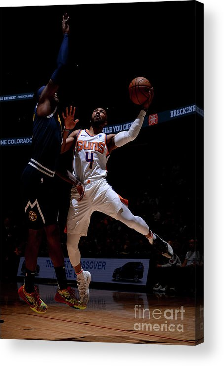 Nba Pro Basketball Acrylic Print featuring the photograph Phoenix Suns V Denver Nuggets by Bart Young