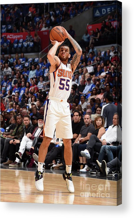 Nba Pro Basketball Acrylic Print featuring the photograph Phoenix Suns V Los Angeles Clippers by Andrew D. Bernstein