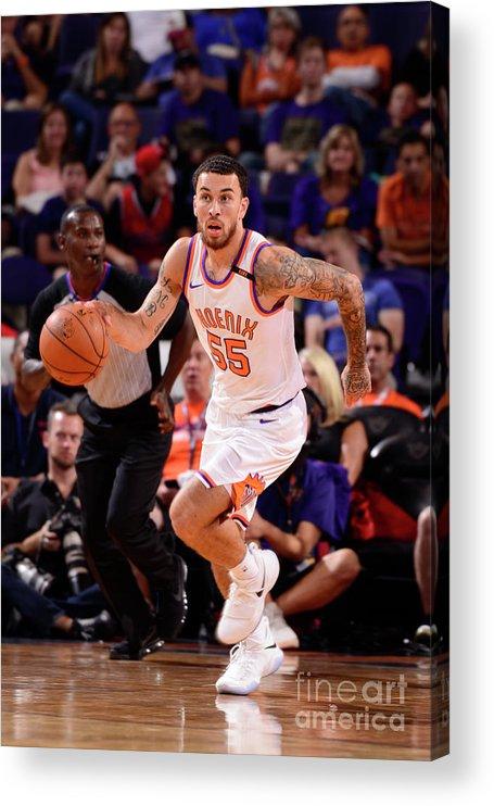 Nba Pro Basketball Acrylic Print featuring the photograph Portland Trail Blazers V Phoenix Suns by Barry Gossage