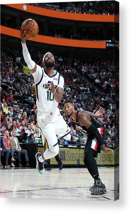 Nba Pro Basketball Acrylic Print featuring the photograph Portland Trail Blazers V Utah Jazz by Melissa Majchrzak