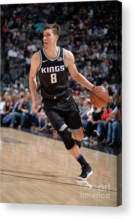 Nba Pro Basketball Acrylic Print featuring the photograph Sacramento Kings V San Antonio Spurs by Mark Sobhani