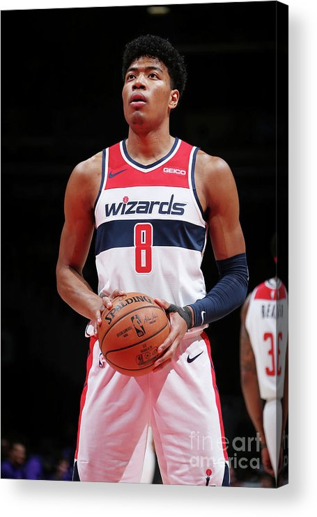 Nba Pro Basketball Acrylic Print featuring the photograph Sacramento Kings V Washington Wizards by Ned Dishman