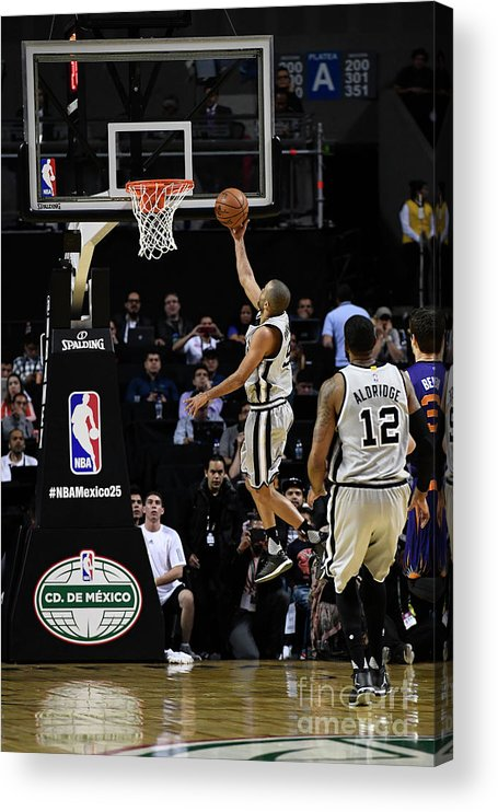 Event Acrylic Print featuring the photograph 2017 Nba Global Games - San Antonio by David Dow