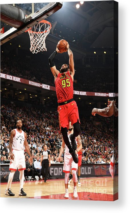 Nba Pro Basketball Acrylic Print featuring the photograph Atlanta Hawks V Toronto Raptors by Ron Turenne