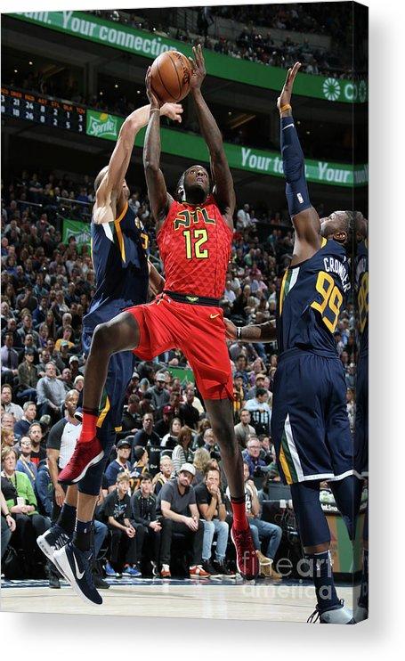 Nba Pro Basketball Acrylic Print featuring the photograph Atlanta Hawks V Utah Jazz by Melissa Majchrzak