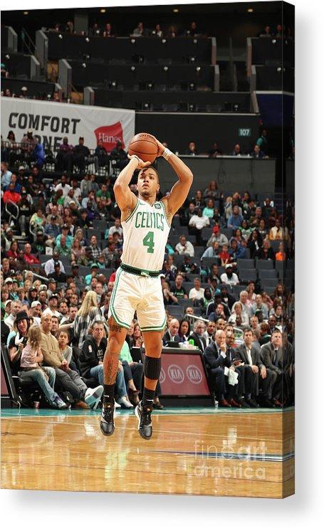 Nba Pro Basketball Acrylic Print featuring the photograph Boston Celtics V Charlotte Hornets by Kent Smith