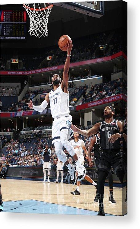Nba Pro Basketball Acrylic Print featuring the photograph Detroit Pistons V Memphis Grizzlies by Joe Murphy