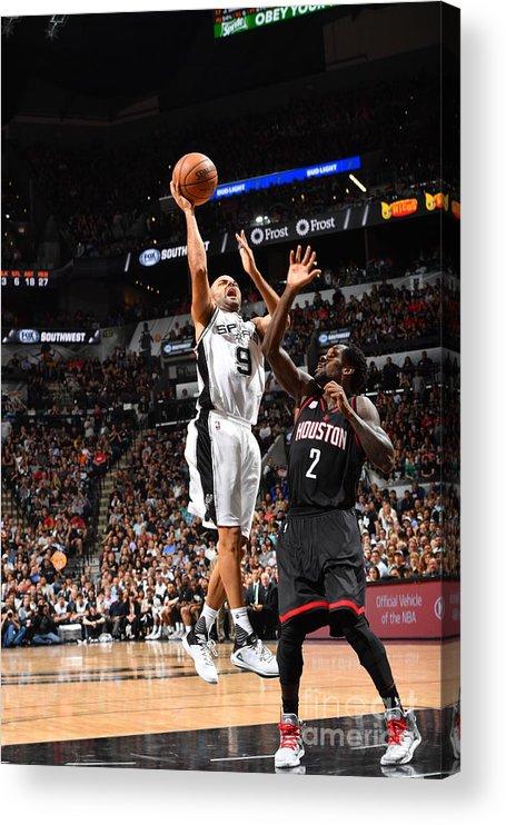Playoffs Acrylic Print featuring the photograph Houston Rockets V San Antonio Spurs - by Jesse D. Garrabrant