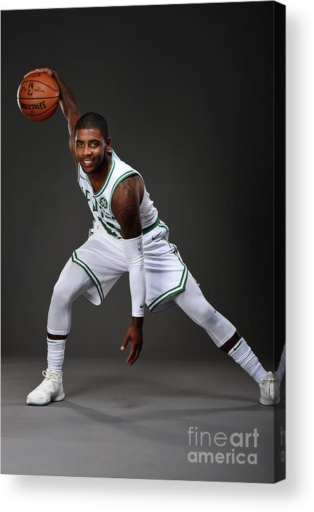Nba Pro Basketball Acrylic Print featuring the photograph Kyrie Irving Boston Celtics Portraits by Brian Babineau
