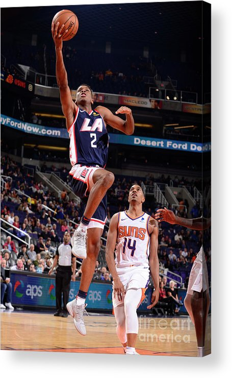 Nba Pro Basketball Acrylic Print featuring the photograph Los Angeles Clippers V Phoenix Suns by Barry Gossage