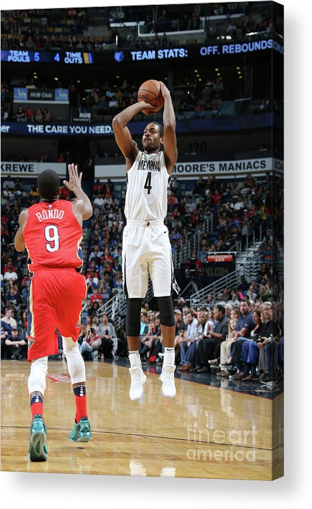 Smoothie King Center Acrylic Print featuring the photograph Memphis Grizzlies V New Orleans Pelicans by Layne Murdoch Jr.