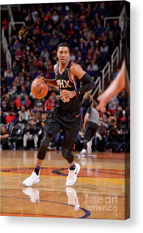 Nba Pro Basketball Acrylic Print featuring the photograph Portland Trail Blazers V Phoenix Suns by Barry Gossage