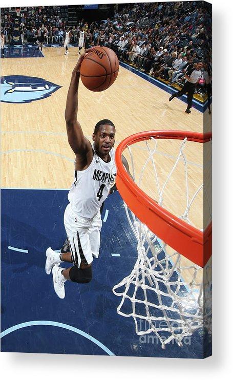 Nba Pro Basketball Acrylic Print featuring the photograph Sacramento Kings V Memphis Grizzlies by Joe Murphy