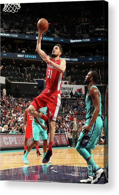 Nba Pro Basketball Acrylic Print featuring the photograph Washington Wizards V Charlotte Hornets by Kent Smith