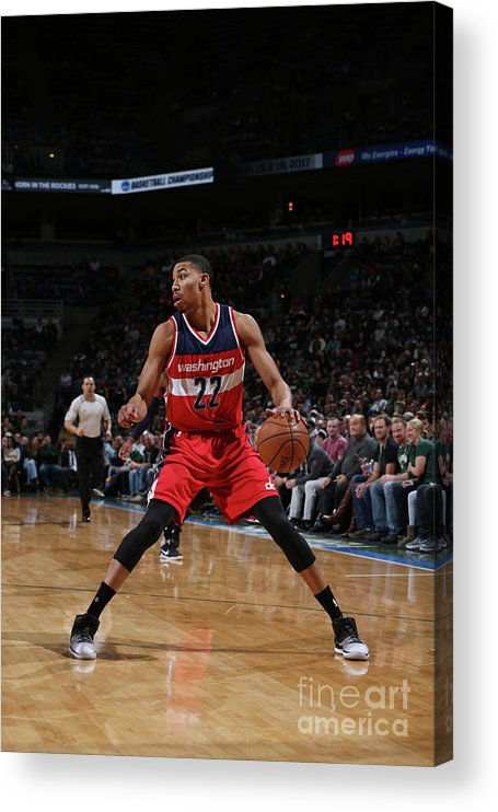 Nba Pro Basketball Acrylic Print featuring the photograph Washington Wizards V Milwaukee Bucks by Gary Dineen