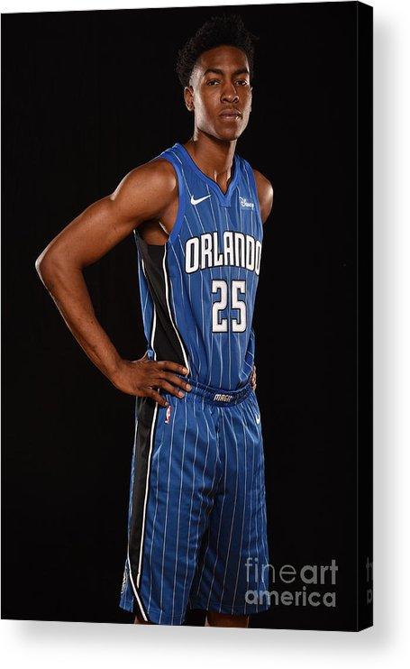 Nba Pro Basketball Acrylic Print featuring the photograph 2017 Nba Rookie Photo Shoot by Brian Babineau