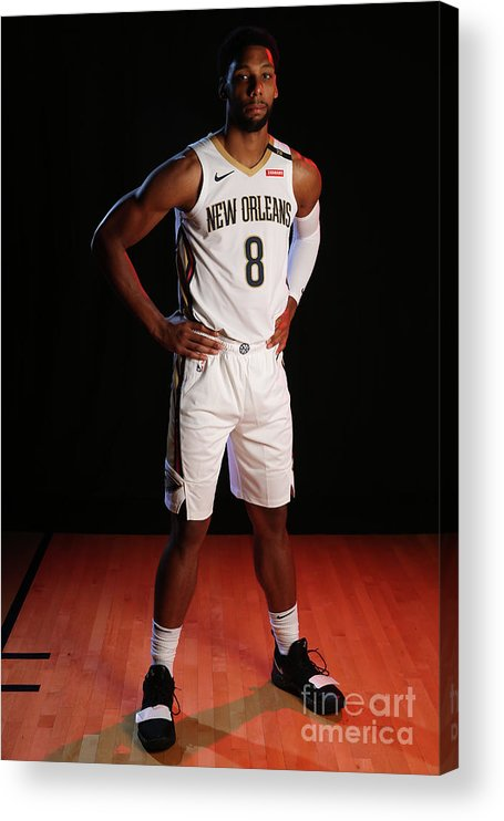 Media Day Acrylic Print featuring the photograph 2018-19 New Orleans Pelicans Media Day by Layne Murdoch Jr.