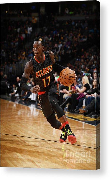 Nba Pro Basketball Acrylic Print featuring the photograph Atlanta Hawks V Denver Nuggets by Garrett Ellwood