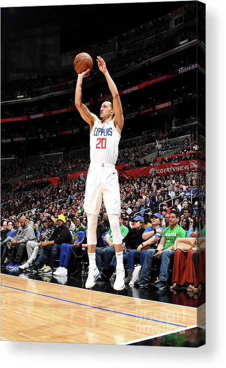 Nba Pro Basketball Acrylic Print featuring the photograph Boston Celtics V La Clippers by Andrew D. Bernstein