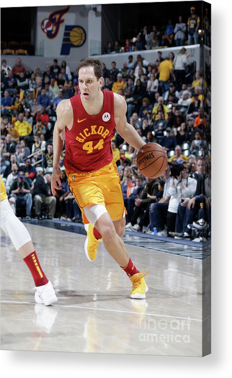 Nba Pro Basketball Acrylic Print featuring the photograph Brooklyn Nets V Indiana Pacers by Ron Hoskins